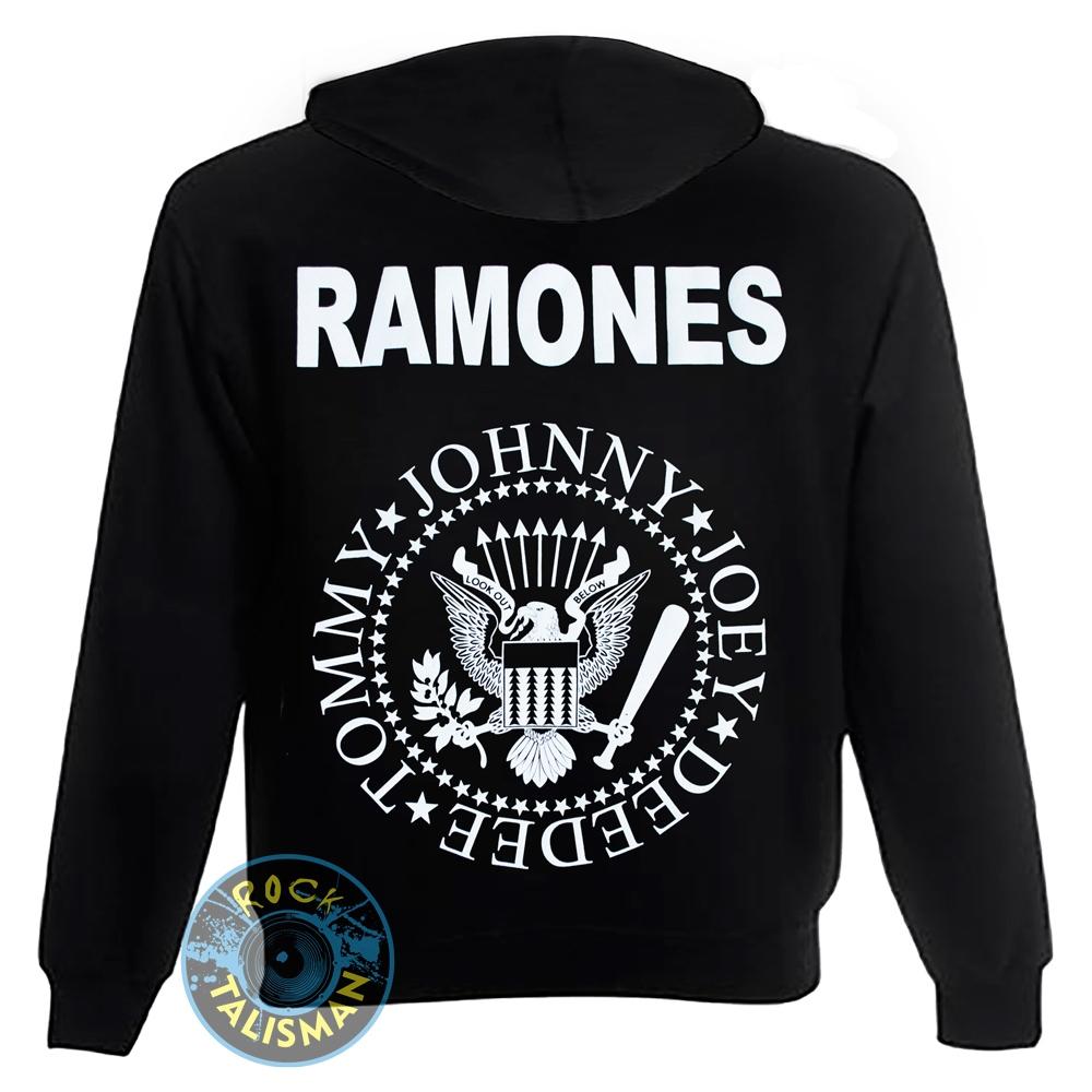 толстовка на змейке RAMONES (лого) 0