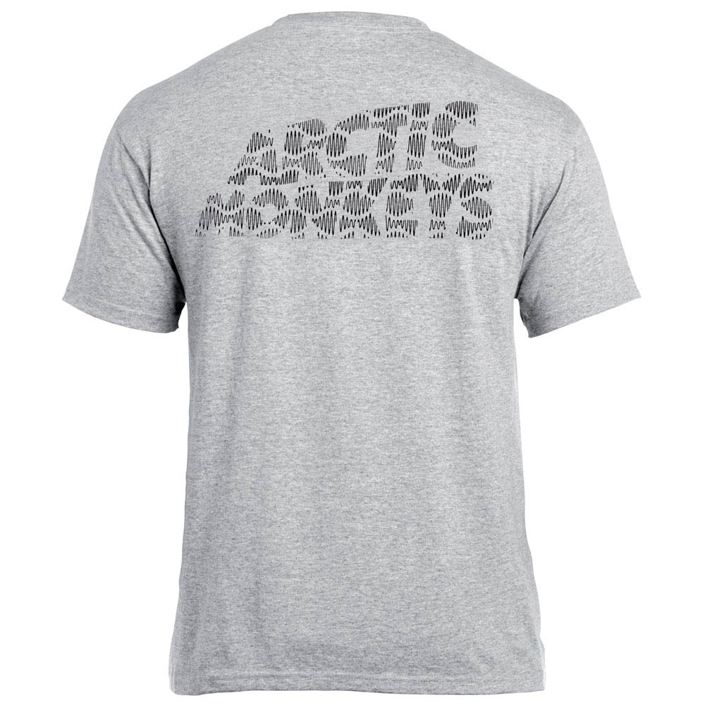 футболка ARCTIC MONKEYS меланжевая  0