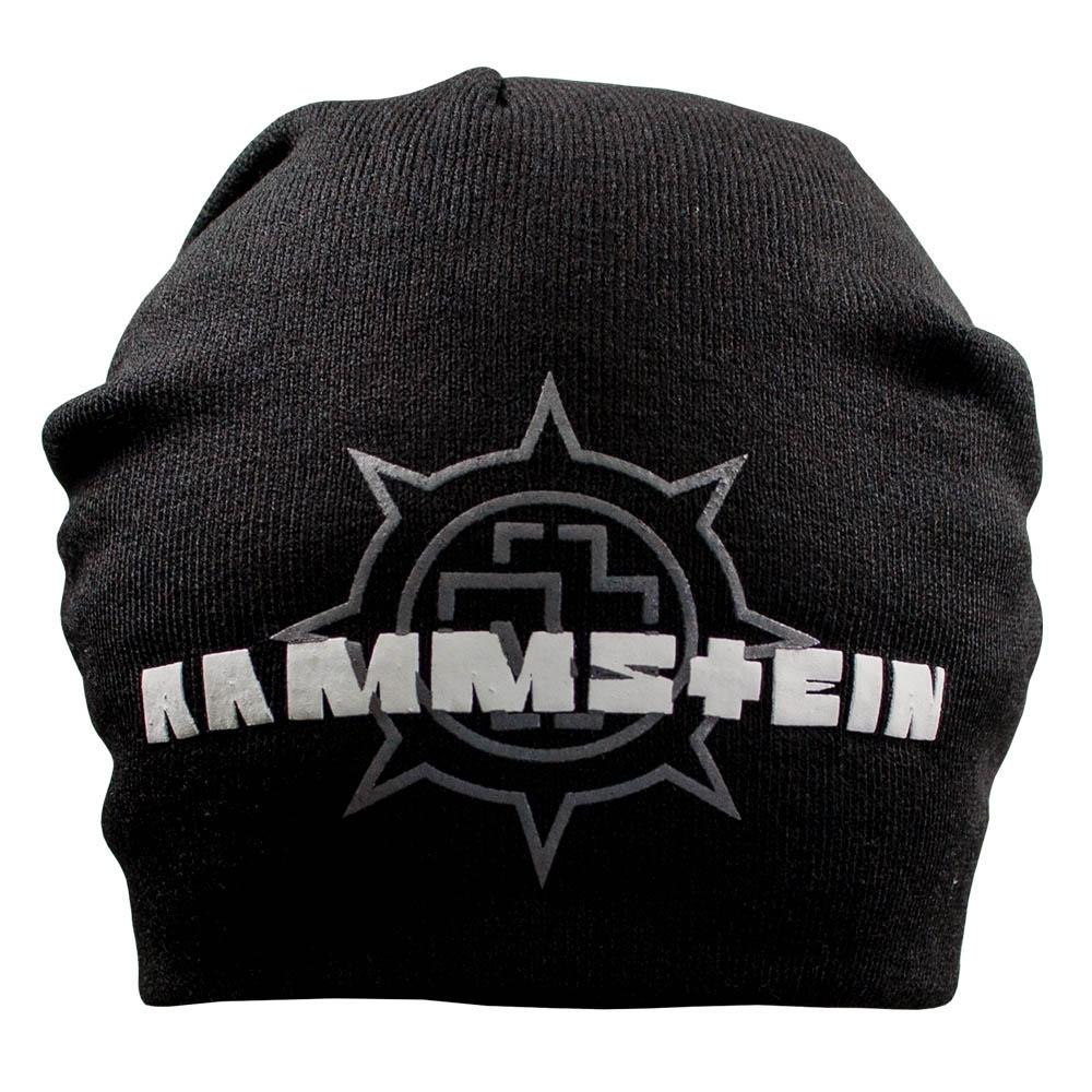 шапка бини с принтом RAMMSTEIN колесо 0