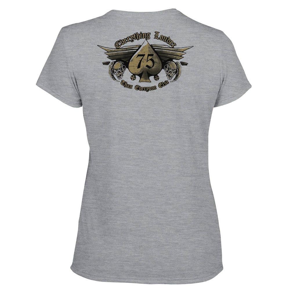 футболка женская MOTORHEAD Everything Louder меланжевая  0