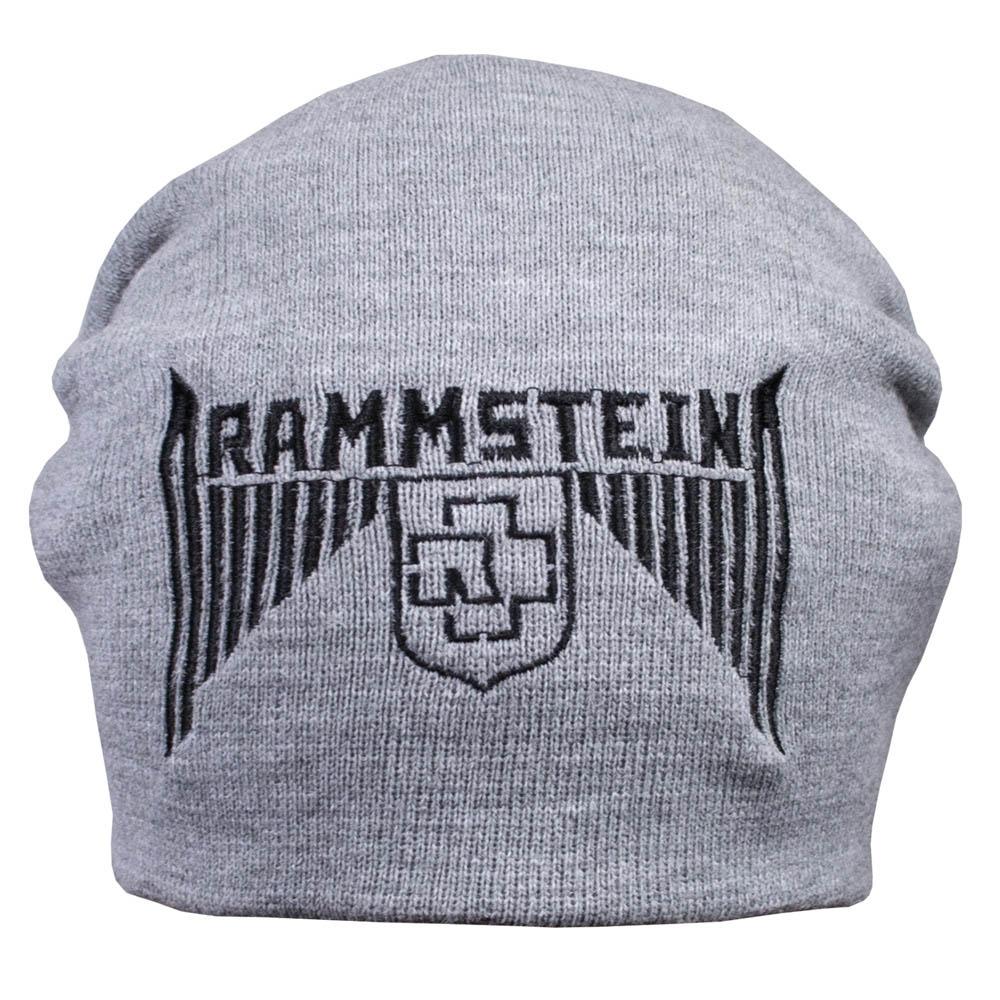 шапка бини с вышивкой RAMMSTEIN серая 0