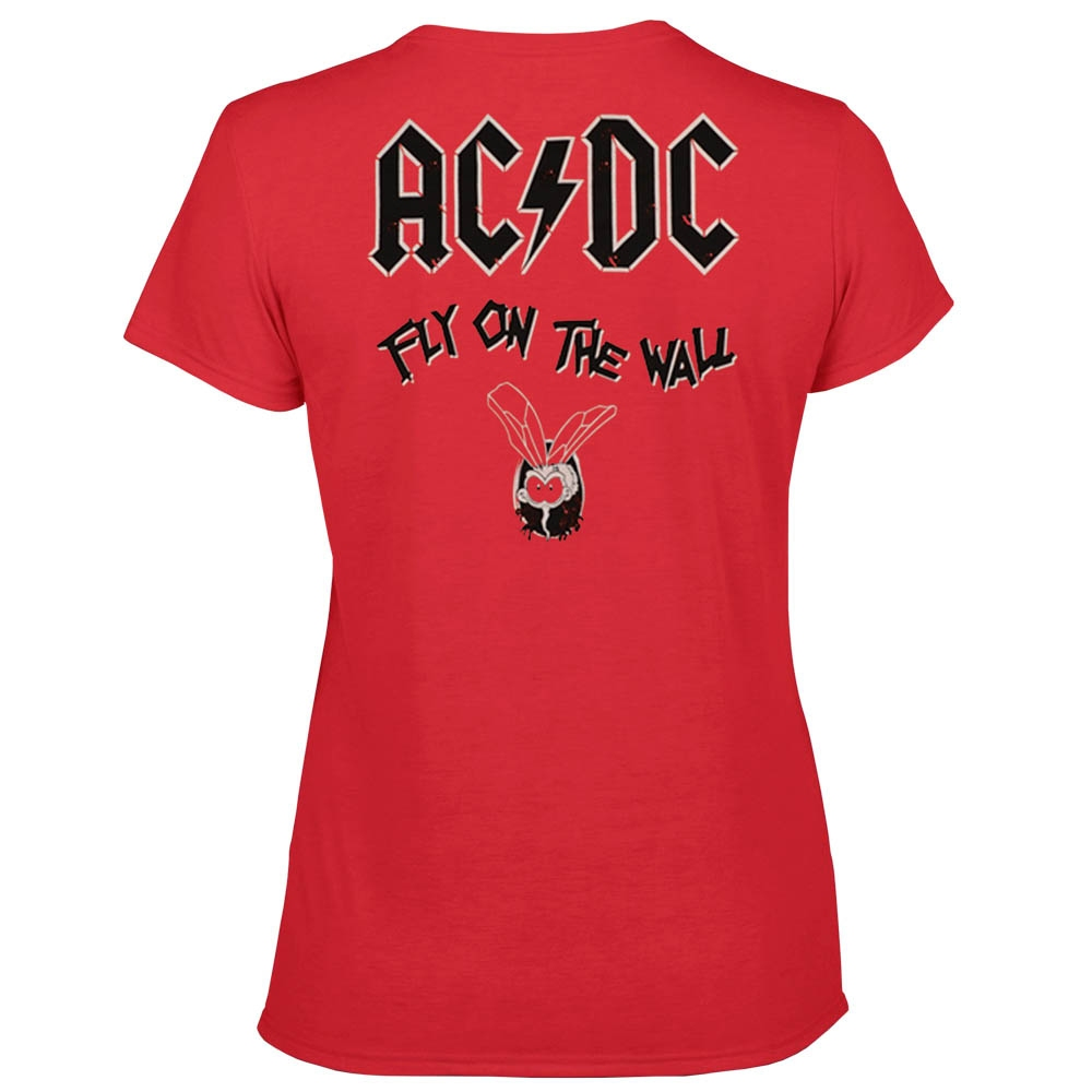 футболка  женская AC/DC Fly On The Wall красная 0