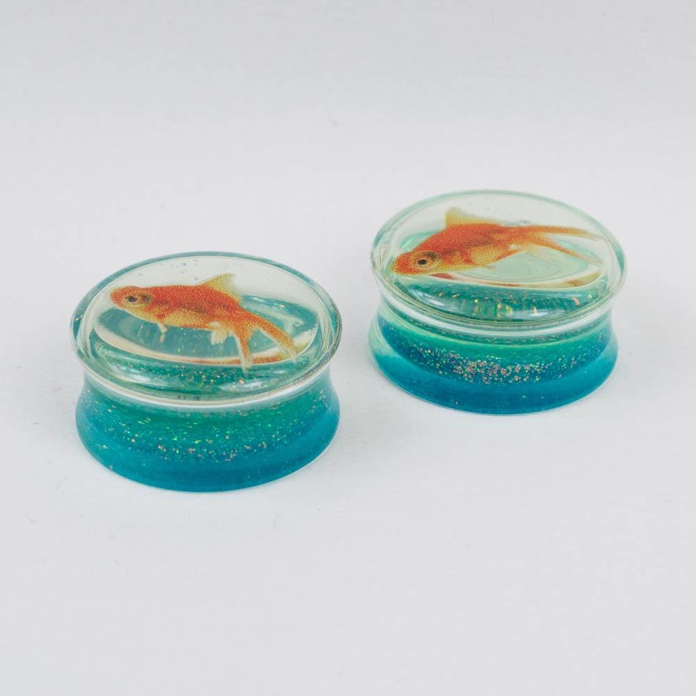 Плаг акриловый Рыбка (пара) 0