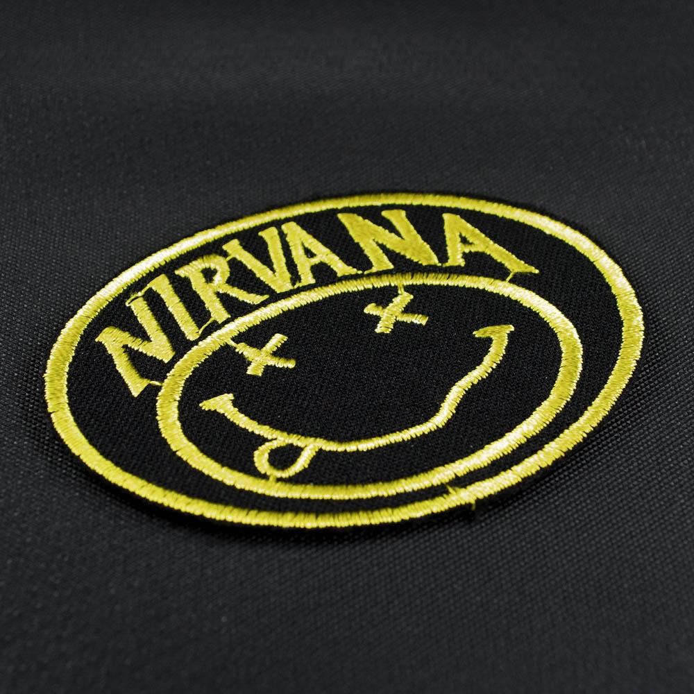 нашивка с вышивкой NIRVANA 4 смайл 0