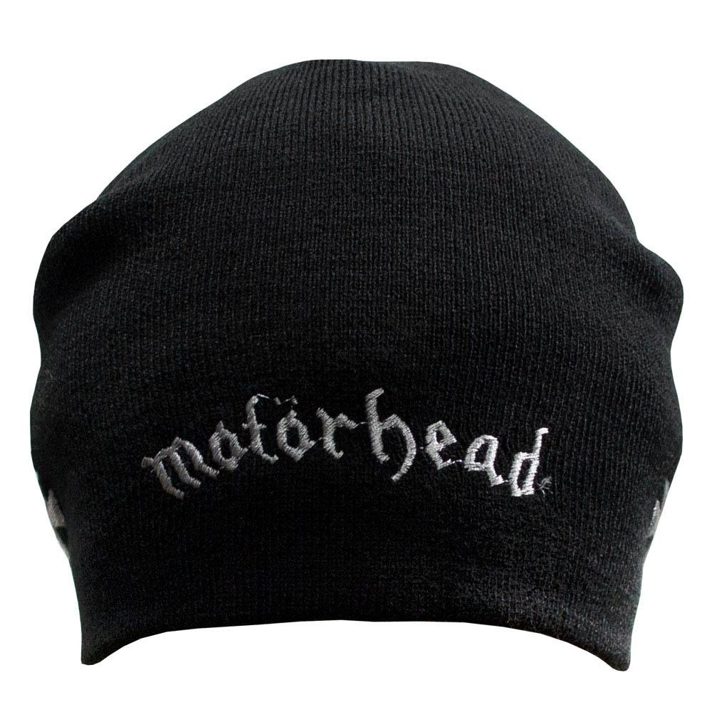 шапка бини с вышивкой MOTORHEAD Logo 0