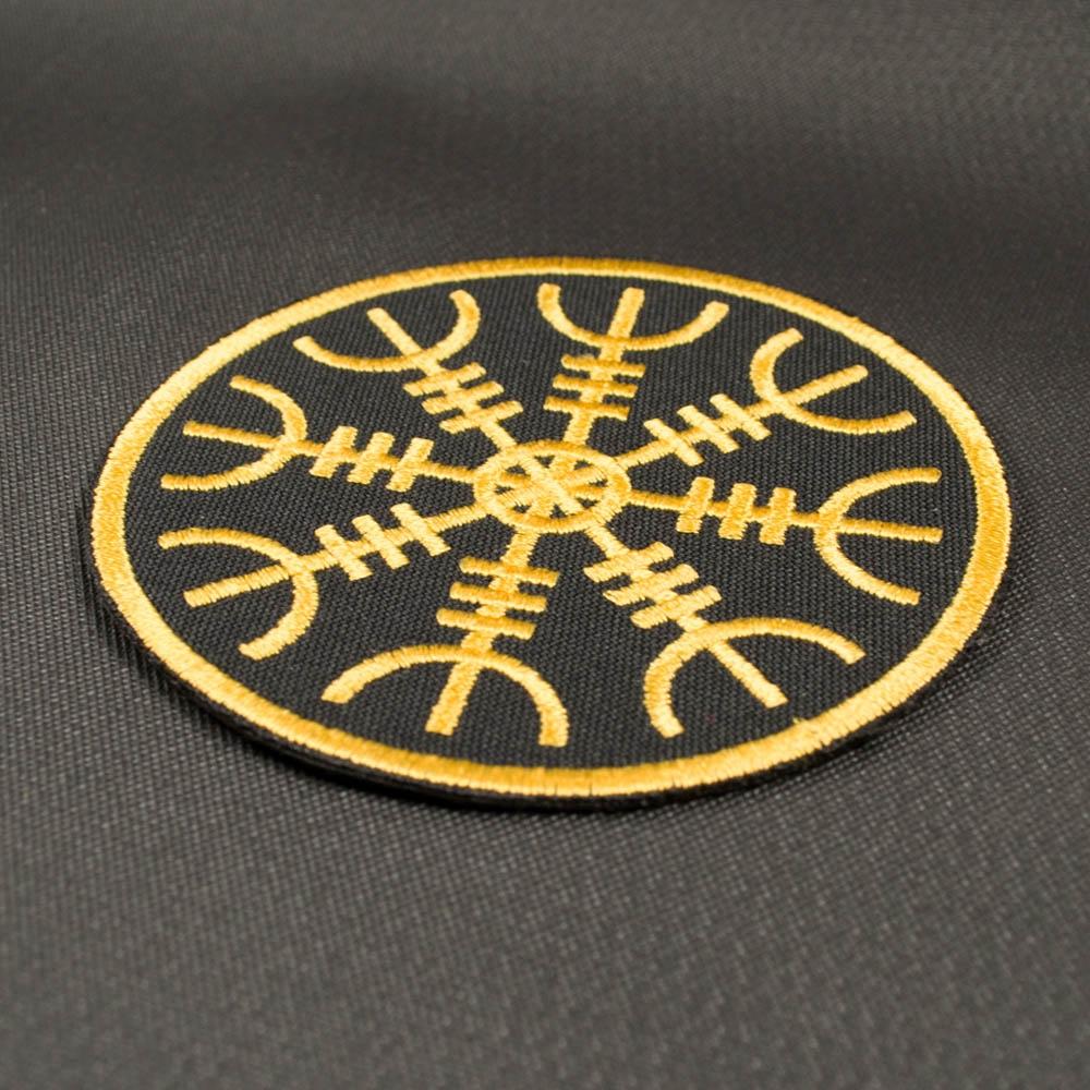 нашивка с вышивкой ШЛЕМ УЖАСА AEGISHJALMR-1 Logo 0