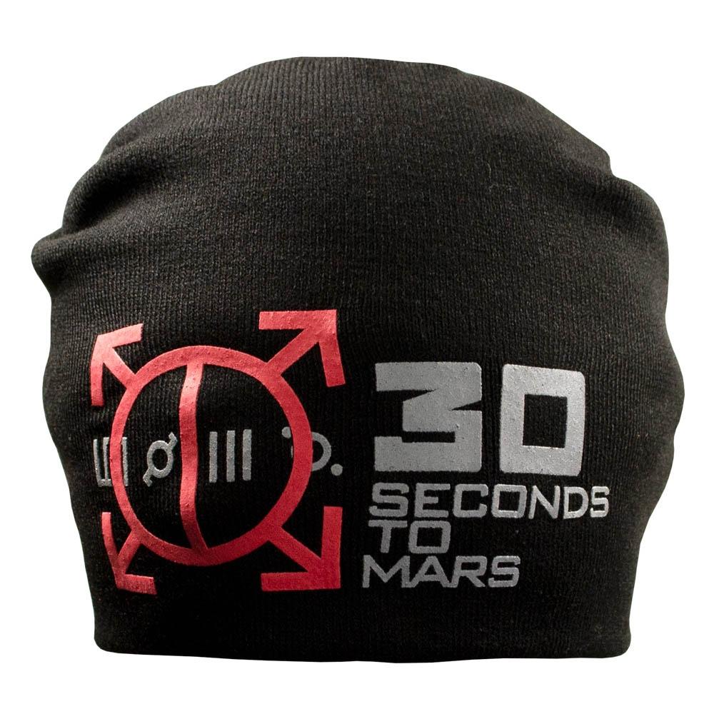 шапка бини с принтом 30 SECONDS TO MARS 0
