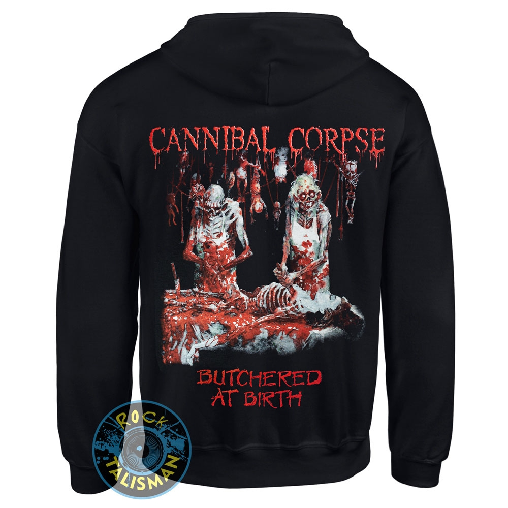 Толстовка на змейке CANNIBAL CORPSE Butchered At Birth 0