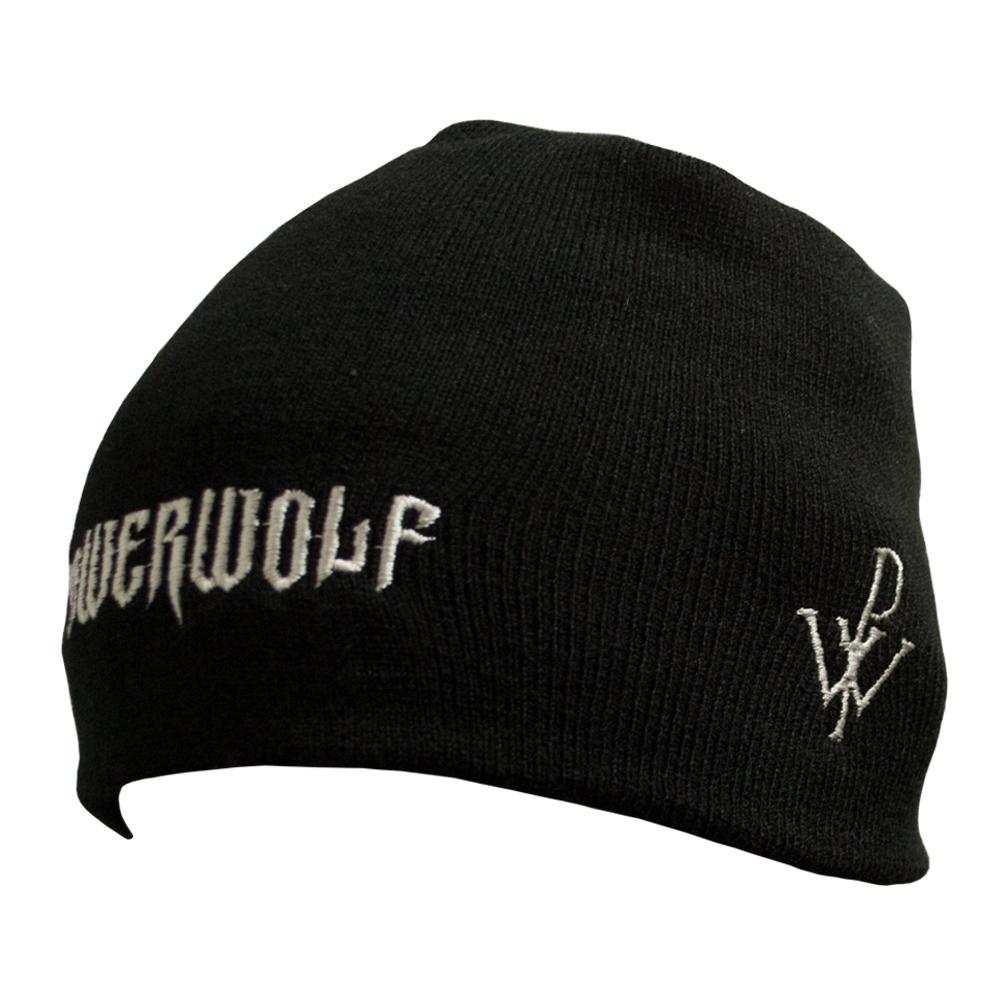 шапка бини с вышивкой POWERWOLF лого 0