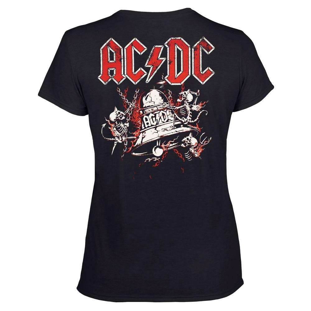 футболка женская AC/DC Hell's Bell колокол 0