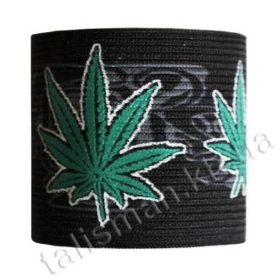 напульсник-резинка - BR-01 - Cannabis -1
