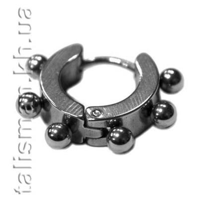 Серьга-кольцо SP-11 с шариками
