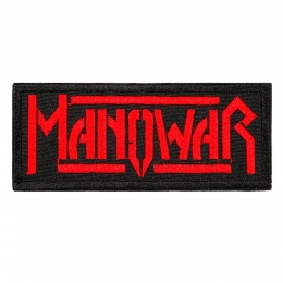 нашивка с вышивкой MANOWAR 3 Red Logo