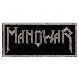 нашивка с вышивкой MANOWAR 1 White Logo
