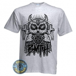 футболка BRING ME THE HORIZON Owl сова меланжевая